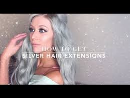 silver hair extensions how to get grey silver hair extensions luxury for princess