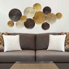 Home Interior Wall Decor Amazon Com Stratton Home Decor Shd0067 Multi Circles Wall Decor
