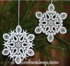 battenburg freestanding lace snowflake ornament sku10621
