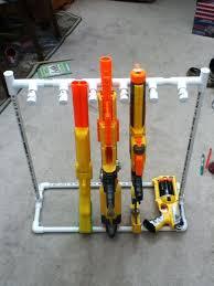 DIY Nerf Gun storage rack PVC pipes HOME Pinterest