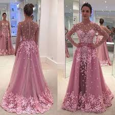 lolipromdress review 49 off a line long sleeves zipper appliques prom dresses 2018