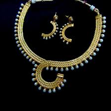 gold pearl necklace set images Golden crescent moon pearl necklace set itahdnura kollection jpg