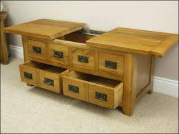 rustic storage coffee table enchanting quercus solid oak 4 drawer kitchen
