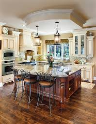 Hickory Wood Kitchen Cabinets Flooring Ideas Dark Hickory Wood Floors With Cream Wooden Kitchen
