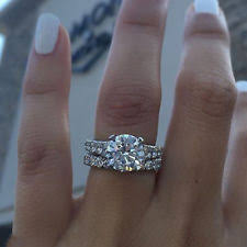 Engagement Wedding Ring Sets by White Gold 10k Engagement U0026 Wedding Ring Sets Ebay