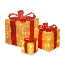pre lit christmas gift boxes buy decorative christmas gift boxes from bed bath beyond