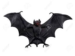 scary halloween bat isolated on a white background stock photo