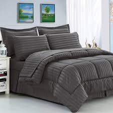 Polyester Microfiber Comforter Haliburton 8 Piece Reversible Comforter Set Gray Full Ebay