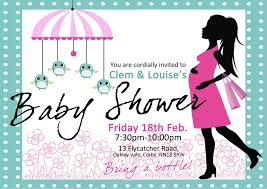 designs simple sample baby shower invitations cards with nice