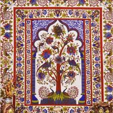 multi color tree of tapestry tapestries