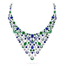 sapphire emerald necklace images Sapphire emerald and diamond necklace graff png