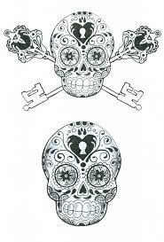 black and white sugar skulls tattoos sugar skulls