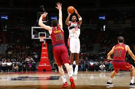 washington wizards beat the cleveland cavaliers during their