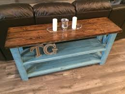 Diy Sofa Table White Rustic X Sofa Table Diy Projects