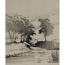pen and ink landscape drawings pen and ink landscape drawing of a