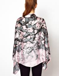 ted baker filley wild horses print cape scarf in pink lyst