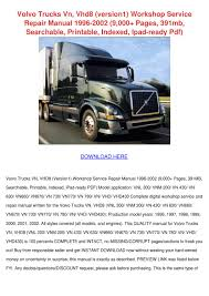 all volvo truck models volvo trucks vn vhd8 version1 workshop servic by roycerenteria issuu
