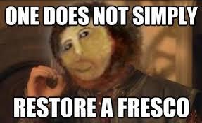 Fresco Jesus Meme - one does not simply walk through j r r tolkien memes fresco meme