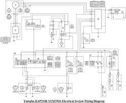 yamaha raptor 350 electrical system wiring diagram u2013 schematic