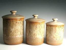 pottery kitchen canisters brown kitchen canisters coryc me
