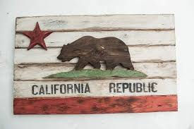 crafted california republic wooden flag by chris