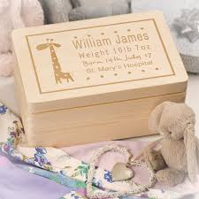 wooden baby keepsake box personalised laser engraved wooden baby memory keepsake box with