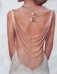 back drop necklace images Alloy back necklace backdrop necklace back chain bridal necklace jpg