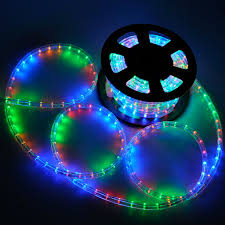 lighting led rope light 50ft multi color w connector