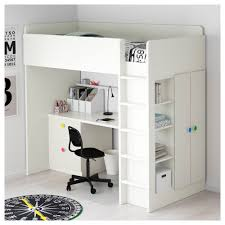 childrens desk and bookshelves kids room luxury and stylish loft bed with wardrobe study laptop
