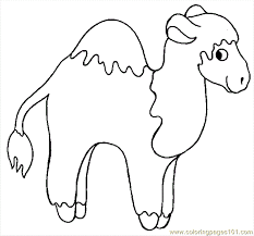 coloring pages camel 6 mammals camel free printable clip