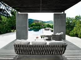outdoor furniture with creative braided upholstery design milk