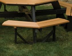 Octagon Patio Table by Poly Lumber Octagon Walk In Picnic Table