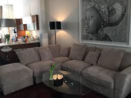 Oakland Furniture Nebraska Corner Pillow Back Sofa With Footstool - Sofa and footstool