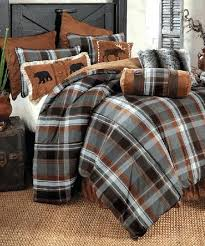 glacier bay plaid rustic bedding setrustic king size duvet covers
