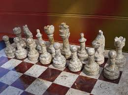 beautiful chess sets fossil and coral chess set with beautiful 16 inch marble chess board