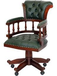 siege capitonné fauteuil bureau anglais acajou capitonné vert oxford meuble de style