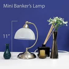 Bankers Style Desk Lamp Elegant Designs Lt2029 Bsn Mini Modern Banker U0027s Desk Lamp Touch