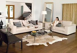 Popular Rustic  White Living Room Brown Leather Sofa Helkkcom - Living room with white sofa