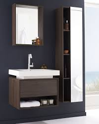 bathroom ideas brown varnished walnut wood floating bathroom