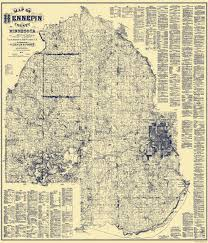 Illinois Toll Map by Old County Map Hennepin Minnesota Landowner 1879