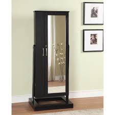 Whitewash Jewelry Armoire Furniture Jewelry Box With Mirror Free Standing Jewelry Armoire