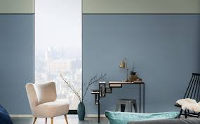 Two Tone Living Room Walls by New Blue Room Ideas Dulux