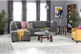 Sectional Chaise Maier Charcoal 2 Piece Sectional W Laf Chaise Living Spaces