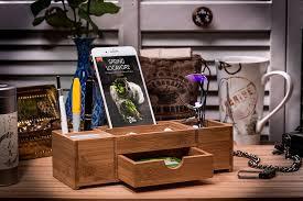 Bamboo Desk Organizer Bamboo Office Caddy And Desk Organizer Prosumer S Choice