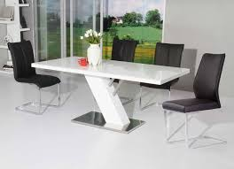 Modern White Dining Room White Lacquer Dining Table Modern Make A Clear White Lacquer
