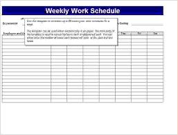 7 work schedule template excel procedure template sample