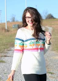 what to wear on thanksgiving day thanksgiving day holiday sweater and leggings bright on