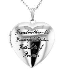 grandmother granddaughter necklace heart shaped photo locket grandmother granddaughter pendant
