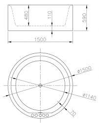 vasca da bagno circolare vasca da bagno circolare idra 纔 150cm