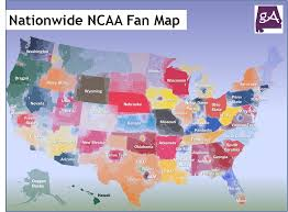 Map Of Alabama And Florida by View The Nationwide Ncaa Fan Map Based From Facebook Likes U2013 Geek